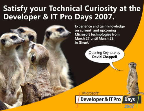 Developer-IT Pro Days 2007 - 498x384