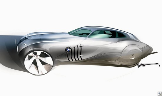 Bmw Concept Coupe Mille Miglia 2006 sketch lg