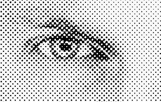 Halftone oog
